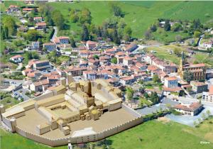 Abbaye de Savigny, désormais en ruines.